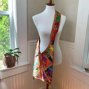 Gorgeous Turkish Crossbody Boho Bag Patchwork VTG